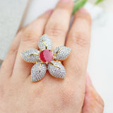 Flower Zircon Ring