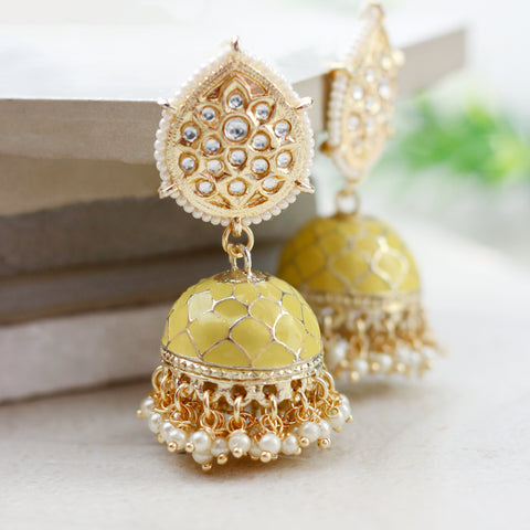 Statement Yellow Jhumke