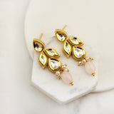 Kundan Drop Light Pink Earring