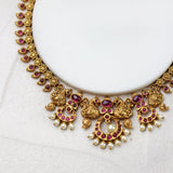 Peacock Ruby Antique Necklace