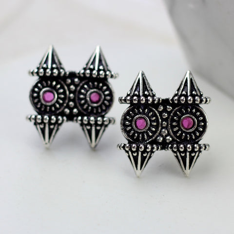 Statement Pink Stud Earring