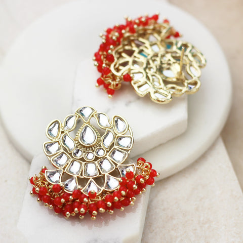 Statement Red Earring