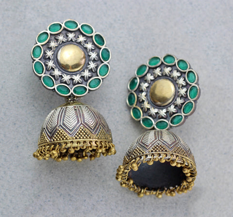 Statement Green Tribal Jhumke