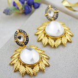 Statement Kundan Leaf Earring