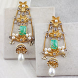 Designer Green Drop Earring