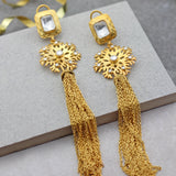 Sunflower Drop Tassel Earrings