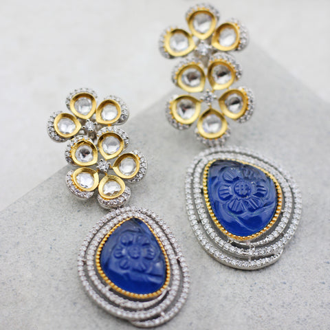 Zircon Blue Drop Earring