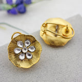 Statement Kundan Antique Stud Earrings