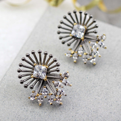 Statement Geometric Stud Earring