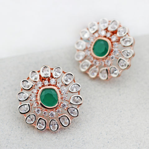 Zircon Green Stud Earring