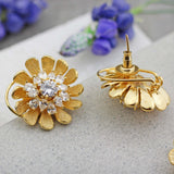 Statement Gold Zircon Pendant Set