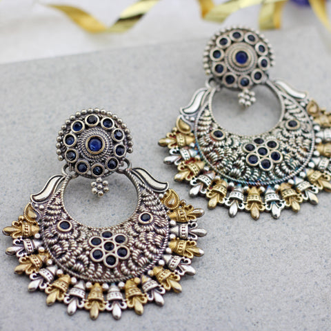 Statement Blue Chandbaali Earring