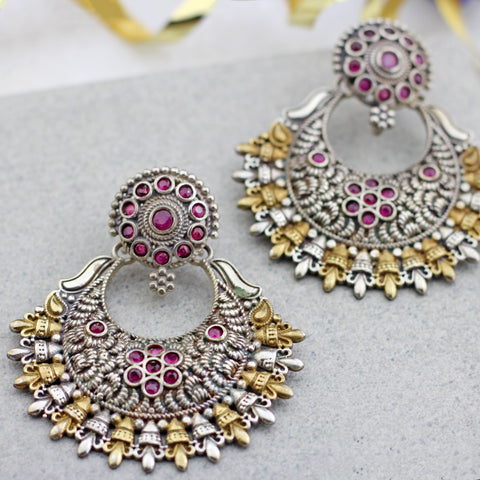 Statement Pink Chandbaali Earring