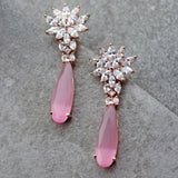 Zircon Pink Drop Earring