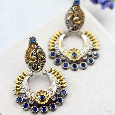 Peacock Blue Drop Earring