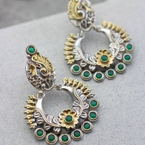 Peacock Green Drop Earring