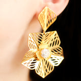 Statement Flower Drop Earring