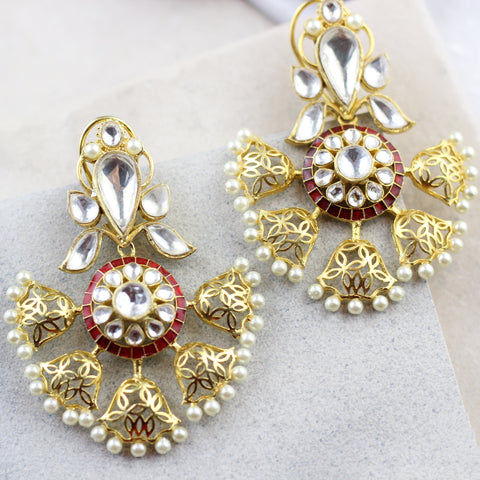 Designer Red Drop Earring