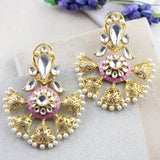 Designer Lilac Drop Earring