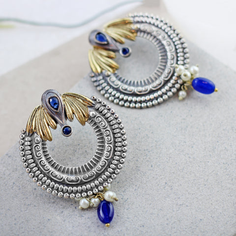 Winged Blue Drop Earring