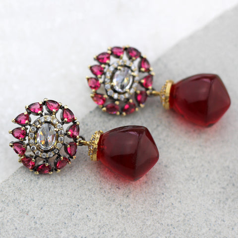 Zircon Drop Earring