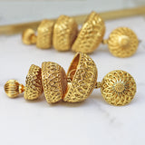 Three Tier Gold Jhumke