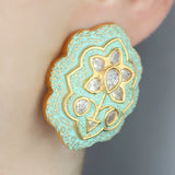 Statement Kundan Stud Earring