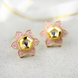 Flower Pink Stud Earring