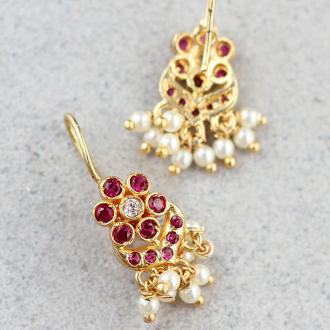 Flower Hook Earring