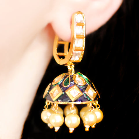 Statement Blue Drop Earring