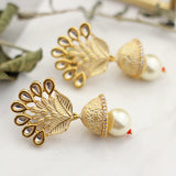 Kundan White Drop Earring