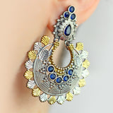 Tribal Blue Drop Earring