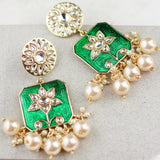 Statement Green Drop Earring