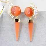 Zircon Orange Drop Earring