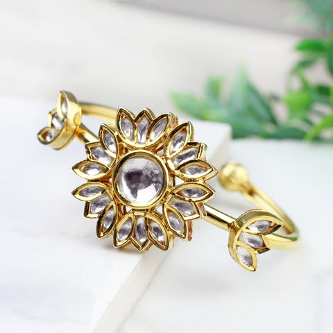 Flower Kundan Bangle