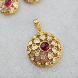 Statement Web Ruby Pendant Set