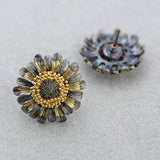 Sunflower Stud Double Tone Earring