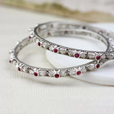 Silver Traditional Bangle Pair