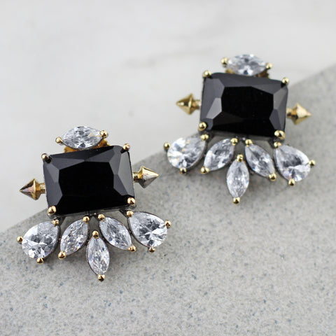 Zircon Black Designer Earring