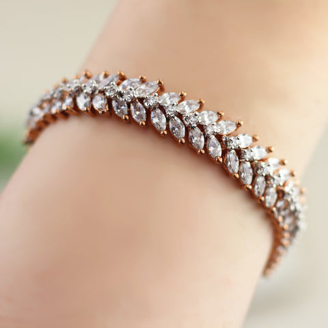 Zircon Rose Gold Bracelet