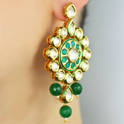 Statement Kundan Earring