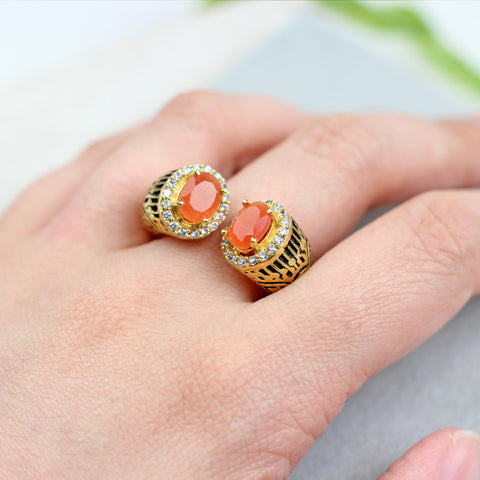 Statement Orange Ring