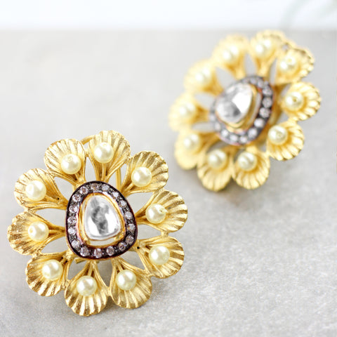 Statement Flower Stud Earrings
