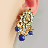 Statement Kundan Blue Earring