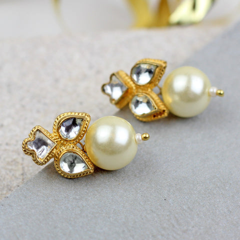 Three Tier Stud Earrings
