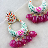 Hand Painted Drop Earring