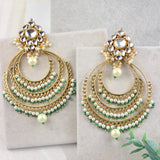 Statement Kundan Chand Earring