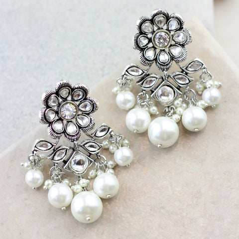 Statement Pearl Drop Earring