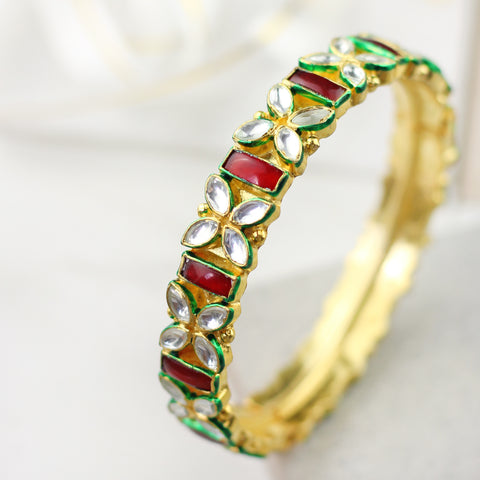 Statement Kundan Bangle