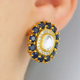 Zircon Blue Stud Earring
